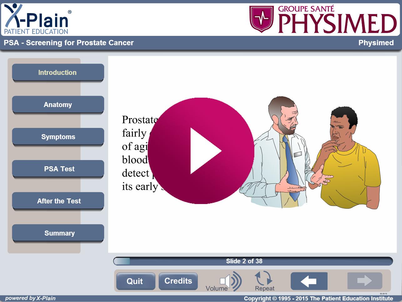 APS - dépistage du cancer de la prostate - Groupe Santé